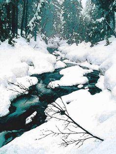 'Bachlauf im Winterwald' von Dirk h. Wendt bei artflakes.com als Poster oder Kunstdruck $18.03