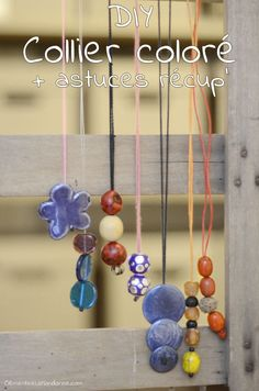 DIY collier coloré + astuces récup' pour le matériel