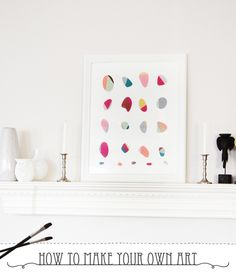 DIY // How to make your own beautiful art piece   Oh Everything Handmade