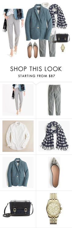 """""""Untitled #1434"""" by kittywitty ❤ liked on Polyvore featuring J.Crew, Michael Kors, women's clothing, women, female, woman, misses and juniors"""