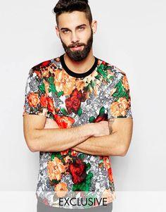 Imagen 1 de Camiseta con estampado floral de Reclaimed Vintage
