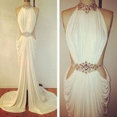 All white engagement party dress <3