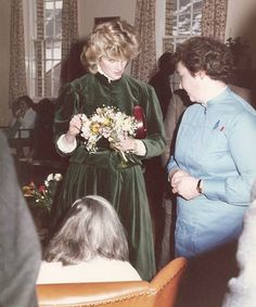 January 16, 1985: Princess Diana during the visit to Horton Hospital in Epsom, Surrey