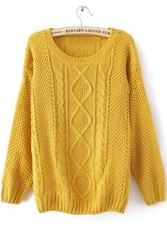 this sweater is sure to add a pop of color this winter
