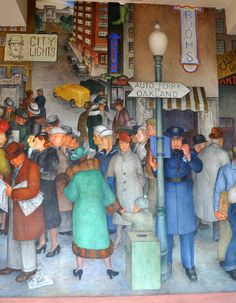 It's FREE to visit the 1930s murals on the first floor on SF's Coit Tower.
