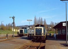 Electric Locomotive, Diesel Locomotive, German, Parking Lot, Locomotive, Deutsch, German Language