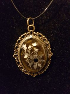 Paper flowers and resin!!!! **Pendant only**