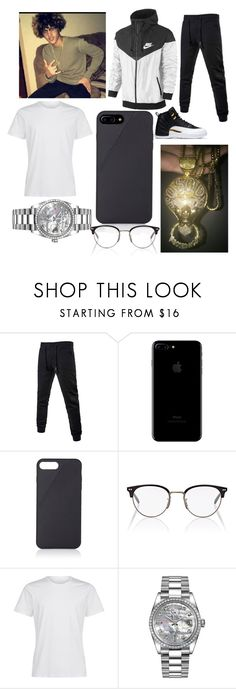 """Hurd the money team💲💲💸💸"" by rennygood on Polyvore featuring Native Union, Oliver Peoples, Rolex, men's fashion and menswear"