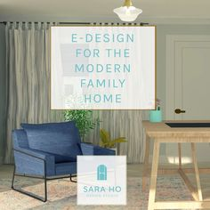 Does your room or home need some re-decorating? Do you want your home to feel less cluttered, more clean, comfortable and functional? Do you want your home to feel like YOU and your family? Check out my edesign services for the Modern family home!