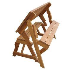 Convertible Picnic Table And Bench Backyard Ideas