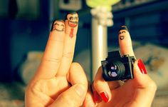 tourist finger people
