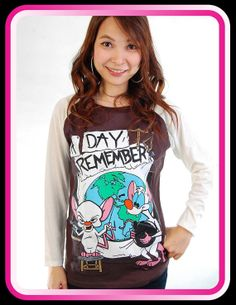 871b82d6 New ADTR A Day To Remember Pinky & the Brain Baseball Women T Shirt Tank  Top S, M, L on Etsy, $21.99