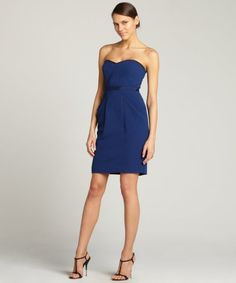 BCBGMAXAZRIA : blue depth 'Daphine' bustier dress : style # 326249301