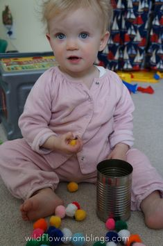 magnets on tin can - 21 Activities for One Year Olds - Baby Play - Wildflower Ramblings