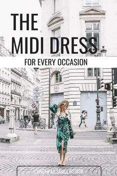 The perfect midi dress for every occasion / free people midi dress / what to wear / Paris / Paris Dresses, Midi Dresses, Lunchpails And Lipstick, Great Week, Mid Length Dresses, Athleisure, Green Dress, Classic Style, Print Patterns