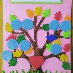 Resultado de imagen de arbol genealogico infantil modelos Family Tree For Kids, Trees For Kids, Family Tree With Pictures, Art For Kids, Family Trees, Cd Crafts, Crafts To Make, Crafts For Kids, School Projects