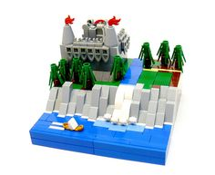 Stronghold by the Sea (by Lego Builders) #LEGO #microscale