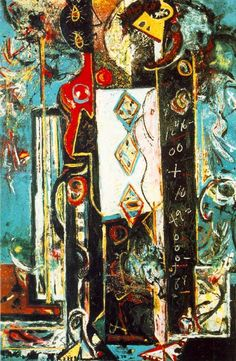 """Male and Female"" by Jackson Pollock (1942)"