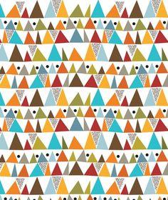 Papier peint enfant géométrique multicolore