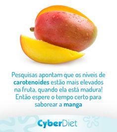 A manga é fonte de carotenoides, substâncias antioxidantes que podem prevenir doenças cardiovasculares e o câncer! Mas para garantir os benefícios dessa fruta, confira essa dica. Mais dicas em: https://facebook.com/cyberdietoficial