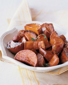 Maple-Glazed Sweet Potatoes Recipe