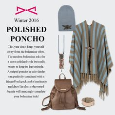 What about a more polished look to your classic bohemian? Fall Winter 2015, Polished Look, Modern Bohemian, Handmade Necklaces, Leather Backpack, Backpacks, Classic, Style, Derby