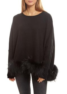 Dom Goor Black Cropped Swing Fur Jumper - Jessimara