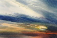 Sky above the moors 1, an original watercolour painting by Rob Piercy