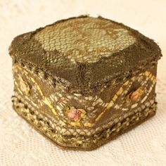 Antique French Ribbon Work Pin Cushion by TheFrenchLaundry on Etsy
