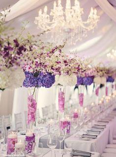 Photo: Danielle Dobson via WedLuxe; How amazing is this purple wedding idea!