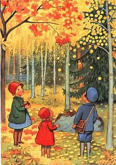 Elsa Beskow fairy schat Oktober