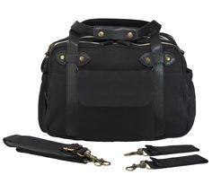 Black Charlie Diaper Bag w/ black handles