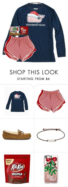 I cant wait for Christmas by pnw-prep ❤ liked on Polyvore featuring Vineyard Vines, UGG Australia and Casetify