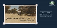 "#AdoftheWeek 1 July 2015: ""The Land Rover legacy #CelebrateDefender."" #CelebrateDefender the best seat."