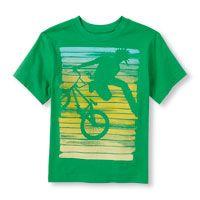Boys Short Sleeve Extreme Bike Graphic Tee