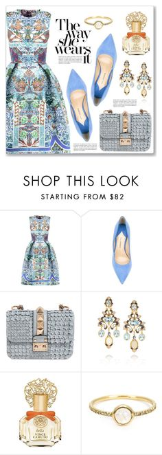 """""""The way she wears it"""" by dressedbyrose ❤ liked on Polyvore featuring Mary Katrantzou, Paul Andrew, Valentino, Diego Percossi Papi, Vince Camuto and Irene Neuwirth"""