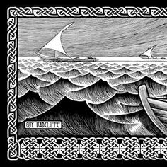 Pen And Ink Seascapes | - Book of Ezekiel - seascape - hand drawn ink drawing - pen and ink ...