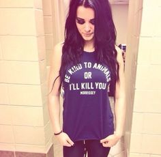 Paige wearing a Morrissey shirt because she's my new favourite person.