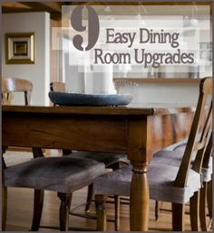 9 Easy Dining Room Upgrades