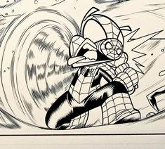Isn't this the coolest Spider-Ham art? Marvel Comics WEB WARRIORS. PENCILS: David Baldeon, INKS: Walden Wong Sub me on www.youtube.com/WaldenWongArt . #marvel #marvelcomics #anime #manga #sketch #inker #comics #spiderman #spiderverse #illustration #crowquill #artwork #micron #speedball #comics #artworks #MCU #artwork #art #artist #draw #drawing #illustrate #arte #inking #inks #draweveryday #picoftheday #spiderham #doodleart #drawingoftheday #drawdrawdraw Comic Art, Comic Books, Marvel Comics Art, Spider Verse, Doodle Art, Ham, Spiderman, Manga, Drawings