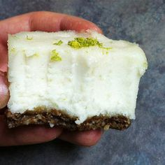 """Raw Mini Coconut Lime Cream Cakes - Fit Sugar. I'm not even that into the whole """"raw"""" thing but these look good."""