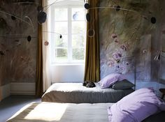 claire basler is an artist who painted her castle... it's like living in a work of art.