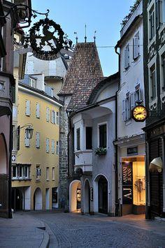 Quiet street in Merano, Tyrol, #Italy
