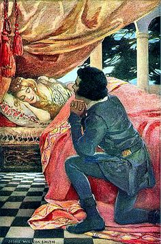"""The Sleeping Beauty"" by Artist Jessie Wilcox Smith - Written by Charles Perrault - A Fairy Tale From France (1697)"