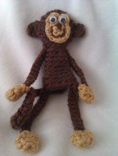Monkey Crocheted Finger Puppet
