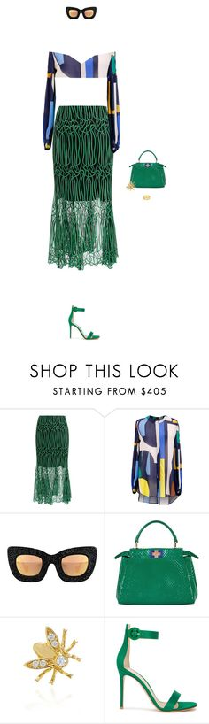 """577"" by eenn ❤ liked on Polyvore featuring Ginger & Smart, Fendi, Foundrae, Gianvito Rossi, fendi and midiskirt"