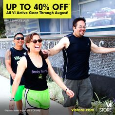 Vi-Store Sale: Up to 40% off All Vi Active Gear through August! | ViSalus BlogViSalus Blog