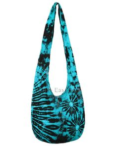 hippie bags and purses | Hippie Hobo Tie Dye Turquoise Sling Crossbody Bag Purse T2 .. ART TO ...
