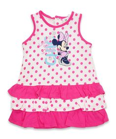 Baby Girls Spotted Minnie Mouse Dress