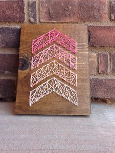 A great gift for a baby to add a rustic feel to a nursery and any home decor living decorations great gift for teen girls!  from my Etsy shop https://www.etsy.com/listing/289652899/pink-ombre-arrows-string-art-nursery